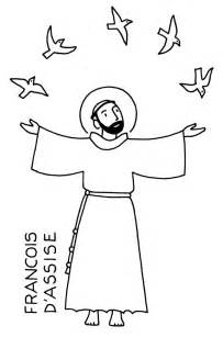 st francis of assisi coloring page catholic identity
