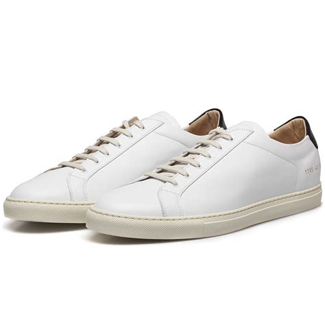 by common projects sneakers common projects white black retro leather achilles low