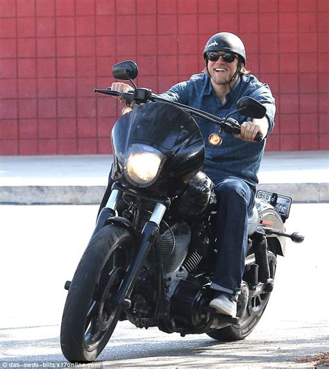 Charlie Hunnam Cant Shake His Sons Of Anarchy Alter Ego As He | elegant harley davidson jackets honda motorcycles