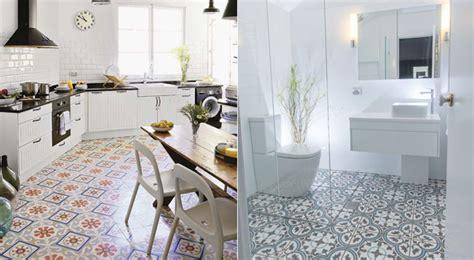 suelos vinilicos de mosaico  cocinas  bano