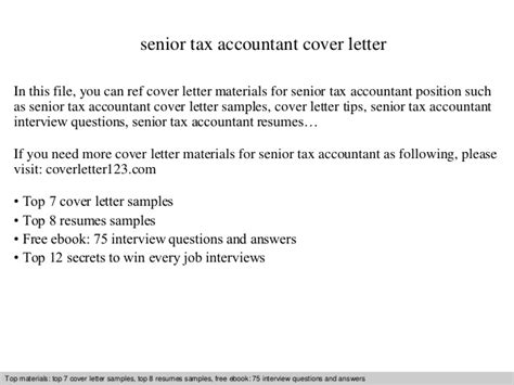tax accountant cover letter senior tax accountant cover letter