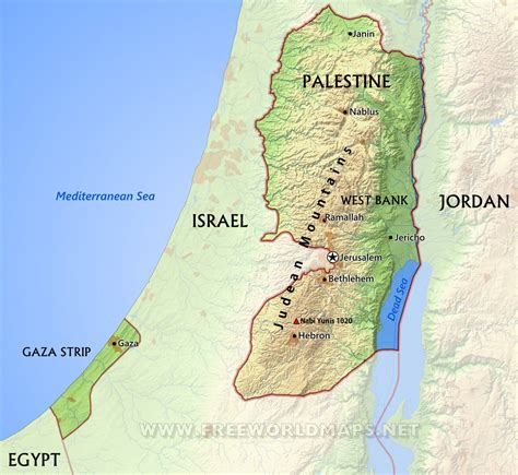 gaza map palestine maps by freeworldmaps net