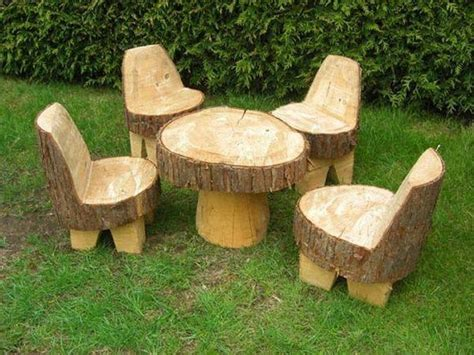 Children S Patio Furniture Recycled Tree Trunks Recycled Things