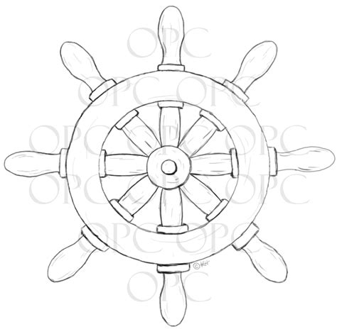 how to draw a traditional boat digital st ship s wheel