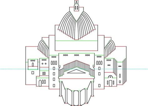 Kirigami Pop Up Arcitecture Card Templates Free by Image Detail For Hơp Pattern Origamic Architecture