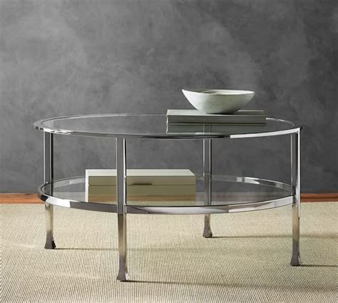 coffee table polished nickel finish
