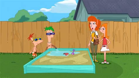 phineas and ferb backyard beach episode lawn gnome beach party of terror phineas and ferb wiki