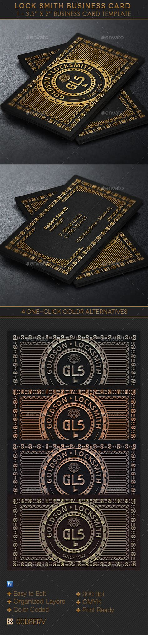 locksmith business cards templates locksmith business card template graphicriver