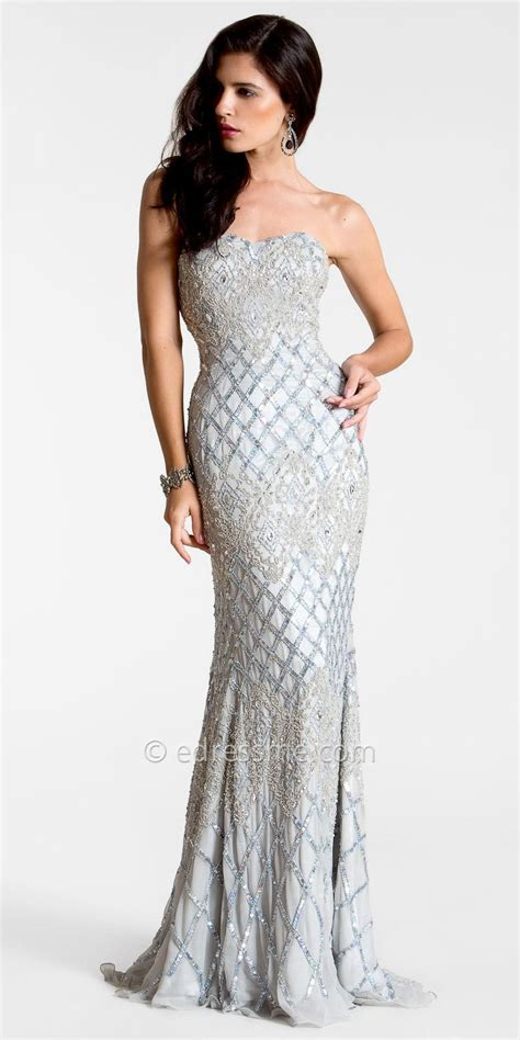 beaded evening gown silver beaded evening gown dont me to wear this