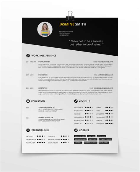 simple resume template vol 2 simple resume template vol 3
