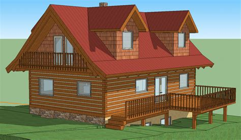 log home design software free download 3d model google sketchup