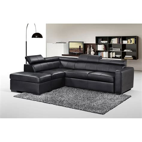 canape d angle cuir canap 233 d angle convertible simili cuir avec pouf