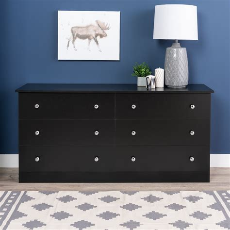 black dressers for bedroom prepac black edenvale 6 drawer dresser home furniture bedroom furniture dressers chests