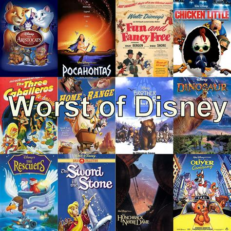 disney films worst of disney reviewing all 56 disney animated films