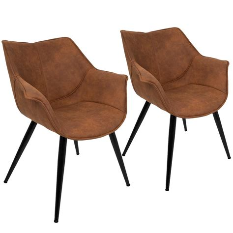 Rust Accent Chair by Lumisource Wrangler Rust Accent Chair Set Of 2 Ch Wrng Ru2 The Home Depot