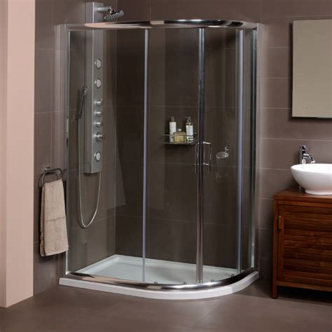 shower cubicles for small bathrooms uk aquafloe 6mm 1200 x 800 offset sliding door quadrant