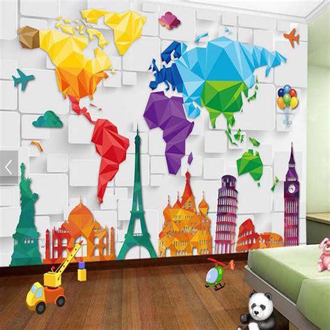 abstract wallpaper bedroom aliexpress com buy kids bedroom wallpaper colorful world