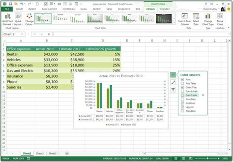 chart layout tab excel 2013 10 awesome new features in excel 2013 pcworld