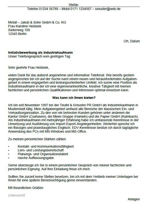 Anschreiben Bewerbung Muster Industriekaufmann Bewerbung Industriekaufmann Gek 252 Ndigt Berufserfahrung Sofort