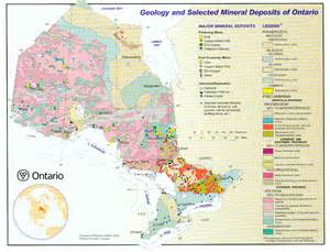 mineral map of canada geo 381 regional studies in mineral resources geology