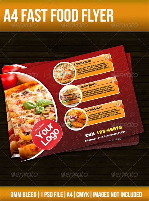 Fast Food Flyer By Thezn Graphicriver Food Flyers Templates