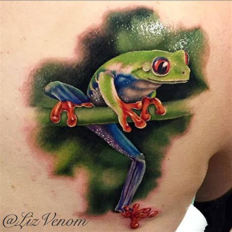 tree frog tattoo a beautiful realistic tree frog by liz venom from