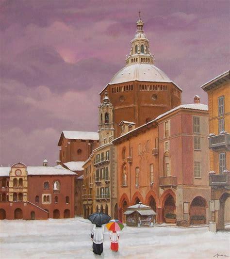 neve a pavia pavia piazza della vittoria con neve