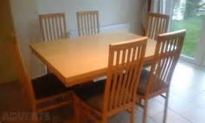 maple kitchen table and 6 chairs for sale in navan meath