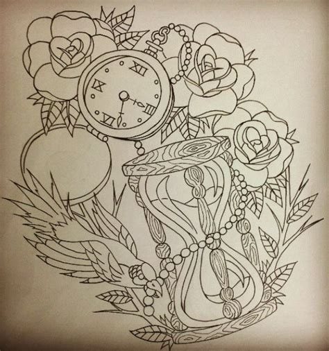 rose hourglass tattoo hour glass and compass ideas for jacksonville