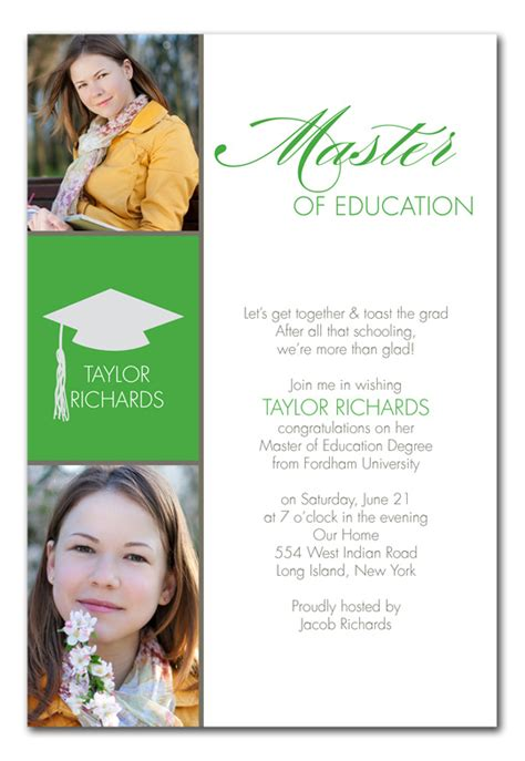 Mba Graduation Announcements Cards by Masters Grad Graduation Announcements By Invitation