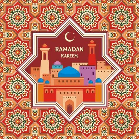 ramadan pattern vector ramadan pattern with greeting card vector 04 vector card
