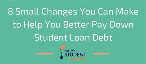 can you make a loan payment with a credit card 8 small changes you can make to help you better pay