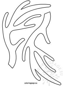 Rudolph Antlers Template by Reindeer Antlers Template Coloring Page