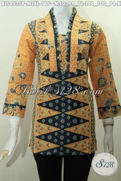 desain baju batik warna hitam baju blus batik paling keren saat ini busana batik cewek
