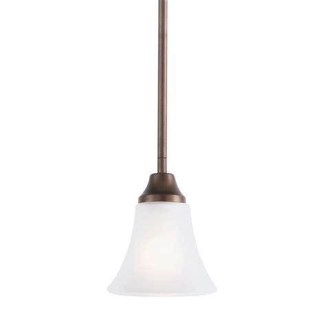 Metal Bell Pendant Light Sea Gull Lighting Pratt Metal 3 Light Autumn Bronze Pendant 65087 715 The Home Depot