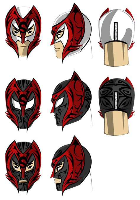 luchador mask by darkknightstrikes on deviantart