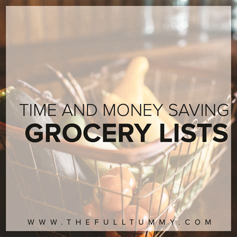 save major time and money with this grocery list template a grocery list that will save both time and money the