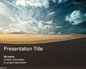 Arid Powerpoint Template Desert Powerpoint Background