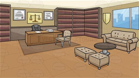 A law office background cartoon clipart vector toons