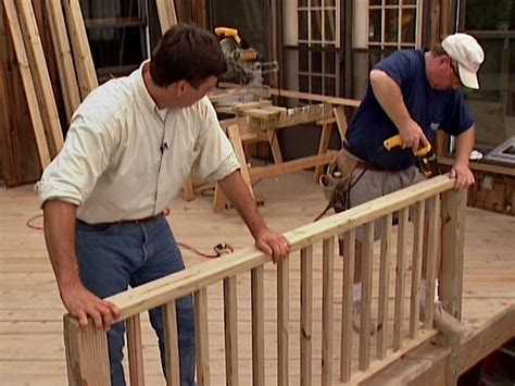 how to install a banister how to build custom deck railings how tos diy