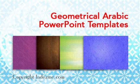 geometrical arabic powerpoint templates