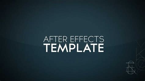 template after effects free intro free after effects intro template 1