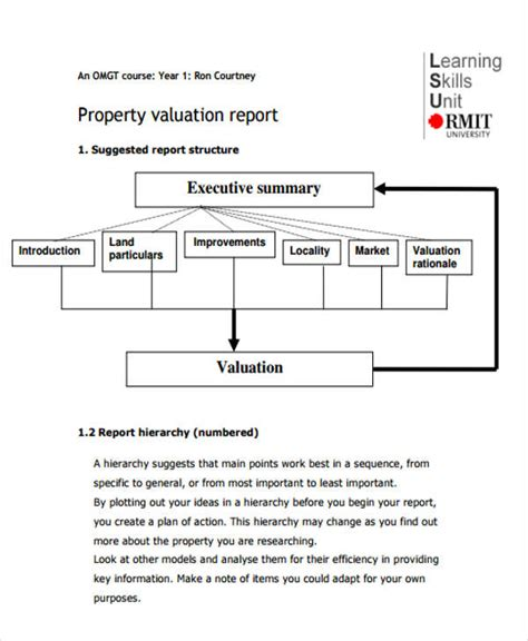 property valuation report template valuation report templates 10 free word pdf apple