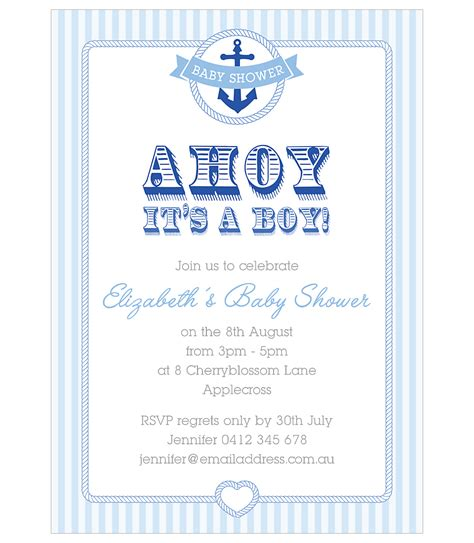 Nautical Baby Shower Invites by Nautical Baby Shower Invitation For Boys Jk