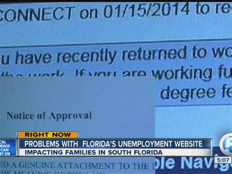 Florida Unemployment Office by Florida Unemployment Claims Website Update Senator Bill