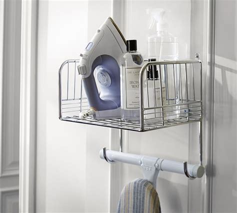 Ironing Board Rack by Chrome Ironing Board Rack Pottery Barn