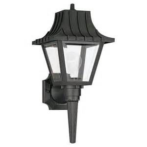 outdoor light fixtures home depot sea gull lighting 1 light clear outdoor wall fixture 8720