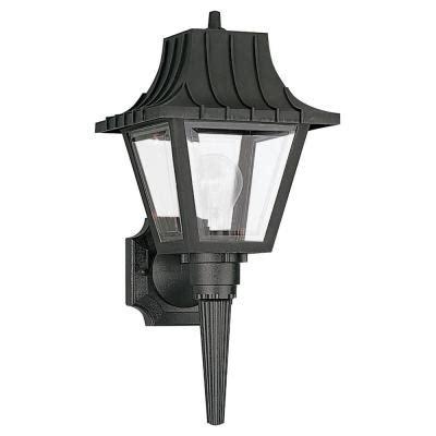 home depot outdoor light fixtures sea gull lighting 1 light clear outdoor wall fixture 8720