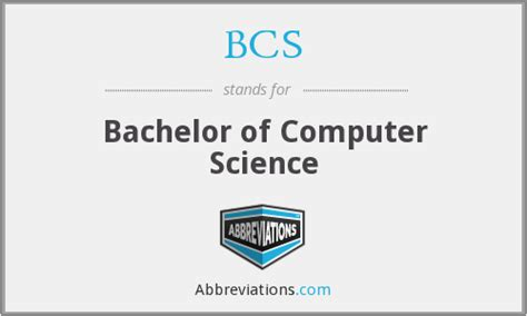 what is the abbreviation for bachelor of computer science