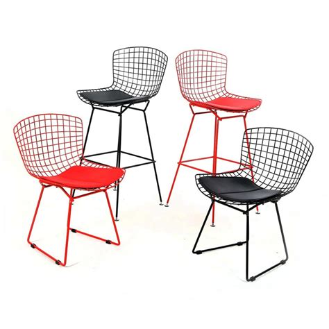 Bertoia Bar Stool Gold by Wire Frame Bar Stools Bertoia Wire Bar Stool In Gold